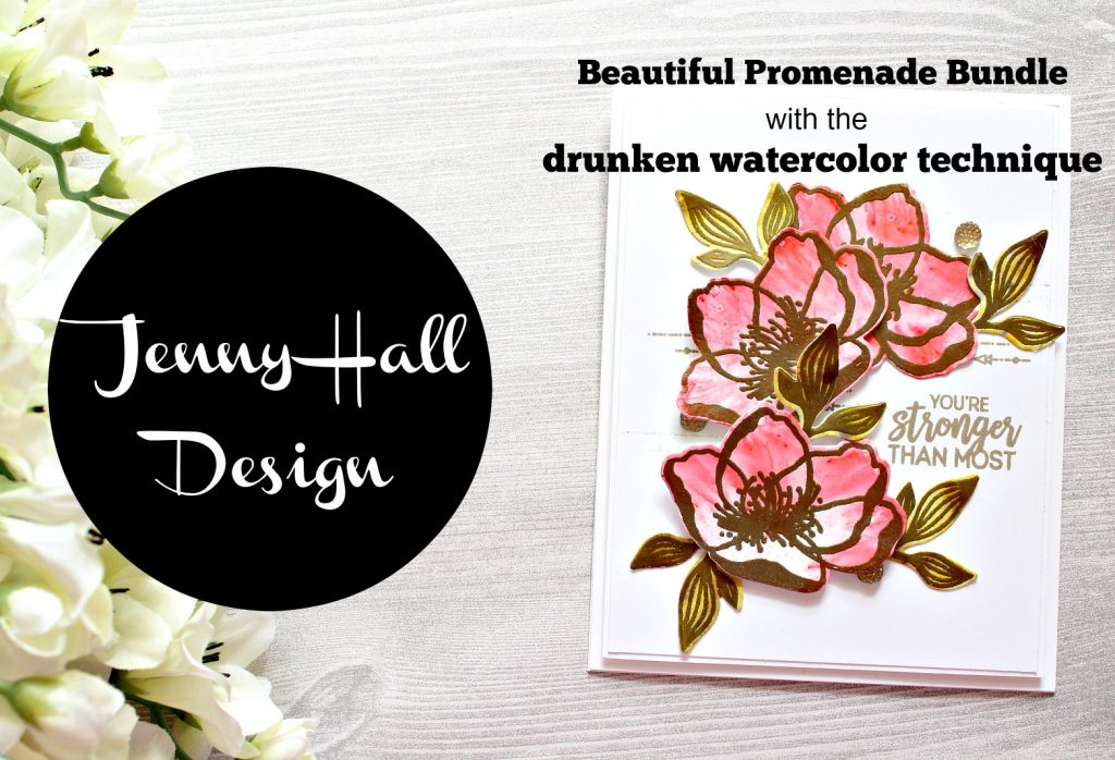 Drunken Watercolor technique created by #jennyhalldesign at www.jennyhalldesign.com for #splitcoaststampers #drunkenwatercolor #cardmakingtechnique #brusho #stampinspritzer #alcoholink #beautifulpromenade #beautifullayersthinlits #cardmaking #handmadecard #papercraft #artsandcrafts #jennyhall #jennystampsup #stampinup #stamping #youtuber #hobby #crafty