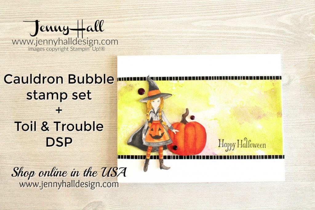 Cauldron Bubble for WWYS #cardmaking #handmadecard #stampinup #stamping #jennyhall #jennyhalldesign #jennystampsup #cauldronbubble #toilandtroubledsp #papercraft #wwyschallenge #papercraft #inksmooshing #artsandcrafts