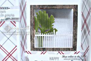 Farmhouse Christmas Bridge Fold card #farmhousechristmas #bridgefold #fancyfoldcard #diorama #addinktivedesigns #jennyhall #jennyhalldesign #jennystampsup #cardmaking #handmadecard #papercraft #artsandcrafts #freeartlesson #onlinecardclass #sipchallenge #cardmakingdesign #stampinblends #festivefarmhousedsp
