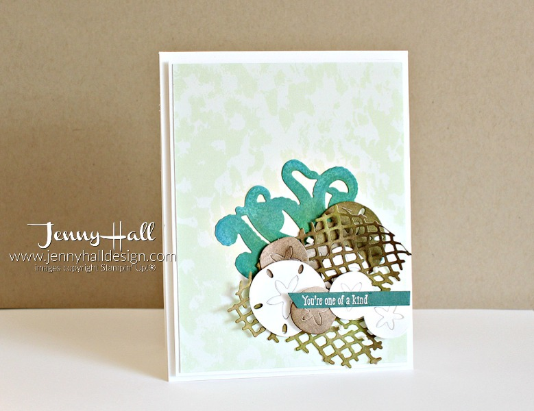 Fun with die cuts at www.jennyhalldesign.com for #cardmaking #stampinup #seaoftextures #jennyhalldesign #stampinup