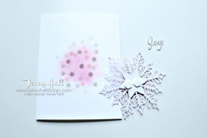 Snow is Glistening card by www.jennyhalldesign.com for #snowisglistening #snowflakeshowcase #snowfallthinlits #artisanpearls #snowflake #jennyhall #jennyhalldesign #jennystampsup #cascard #cleanandsinplecard #stampinup #stamping #cardmaking #handmadecard #papercraft #artsandcrafts #glossywhitepaper #hobbies #crafty #sipchallenges