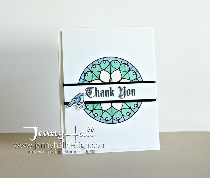 Clean and simple gratitude by www.jennyhalldesign.com for #cardmaking #handmadecard #crafty #stampinblends #stainedglass #cascards #cleanandsimple #thankyoucard #stainedglass #jennyhall #jennyhalldesign #jennystampsup #papercraft #stampinup30 #stampinup #stamping #photopolymer #christiancraft #diy #freeartclass #onlinecardclass
