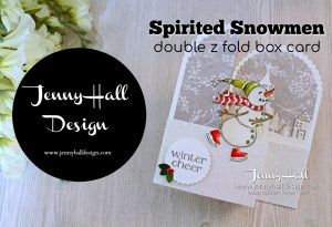 Spirited Snowmen Double Z Fold card www.jennyhalldesign.com #addinktivedesigns #jennyhall #jennyhalldesign #jennystampsup #spiritedsnowmen #doublezfold #fancyfold #watercolor #handmade #greetingcard #christmascard #papercraft #hometowngreetings #stampinup #stamping #artsandcrafts #snowmen