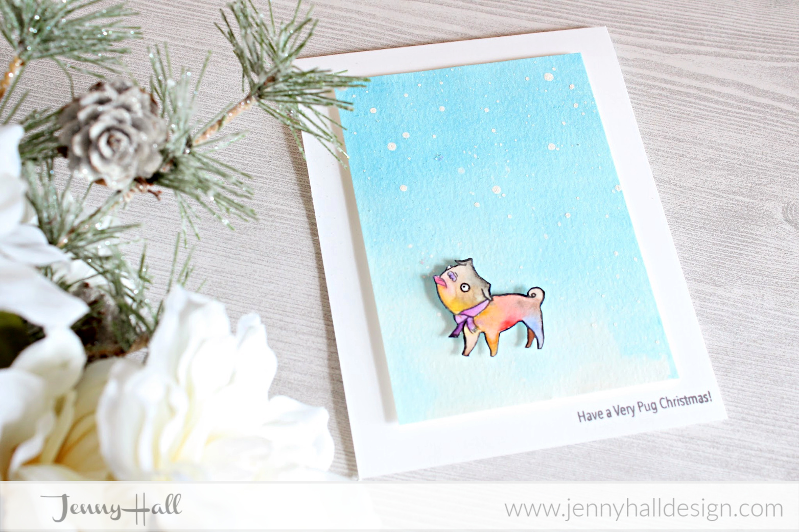 Watercolor Llama gift tag at www.jennyhalldesign.com #jennyhall #jennyhalldesign #jennystampsup #freecardmakingtutorial #freeartlesson #youtuber #crafty #papercrafter #stamping #cardmaking #greetingcard #artsandcrafts #christiancrafts #craftsforkids #cardmakingtechnique #Idarosestamps #pugchristmas #artezawatercolorsreview #artezareview #watercolorwash #christmasinjuly