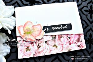 Beautiful Promenade watercolor card