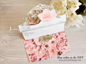 Beautiful Promenade flower pot easel card