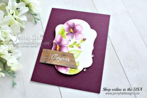 Easy no line watercolor with Blended Seasons Bundle