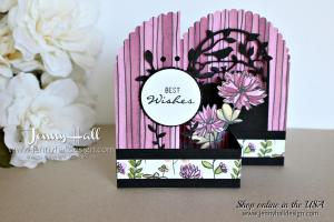 Botanical Bliss Double Z fold box card