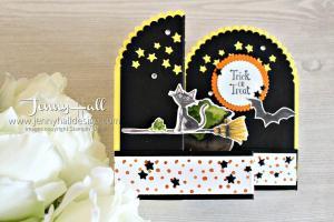 Cauldron Bubble Double Z Fold Box Card