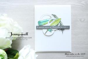 Watercolor Feathers card created by Jenny Hall