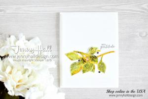 Itty Bitty Greetings and Detailed Leaves Thinlits