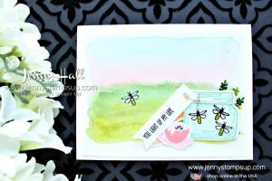 Jar of Love Watercolor wash landscape