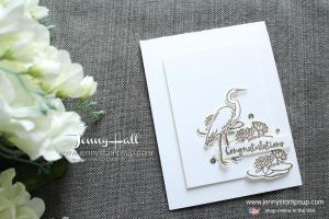 Lilypad Lake CAS card created by Jenny Hall