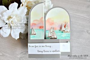 Lilypad Lake in a double z fold box card