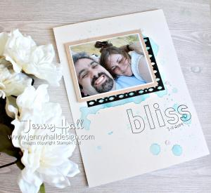 Shimmery White c/s with Lined Alphabet stamps