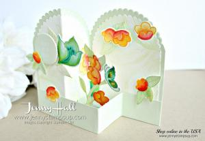 Layering Circles Double Z Fold box card