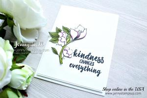 Serene Garden with Stampin Blends markers