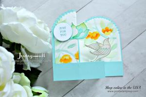 Serene Garden Double Z fold box card