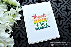 Stamping a rainbow with Stamparatus and Thankful Thoughts