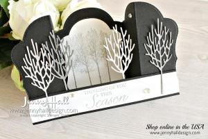Winter Woods Bridge Fold card