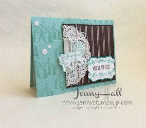 Carousel Birthday in blues and browns by Jenny Hall www.jennyhalldesign.com