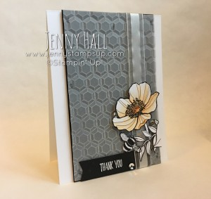 Hexagons embossing folder & Inside the Lines DSP