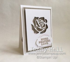 Sending Thoughts sentiment with Rose Garden thinlits by Jenny Hall www.jennyhalldesign.com