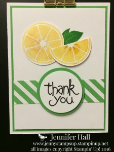 Lemons thank you card