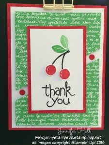 Cherries thank you card