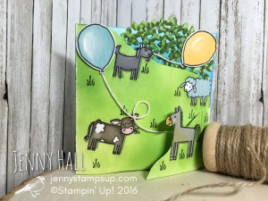 Barnyard Babies Birthday card