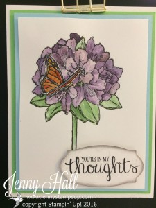 Best Thoughts Floral on cardstock