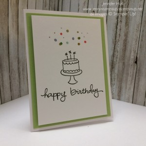 Clean & Simple birthday card