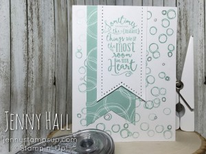 Fizzy Bubbles card using Layering Love & Playful Backgrounds stamps