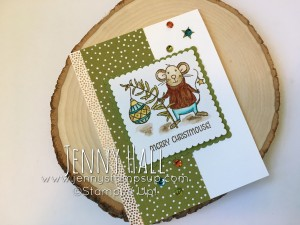 watercoloring with Stampin Write markers and Merry Mice