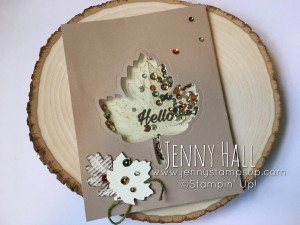 shaker card with Vintage Leaves